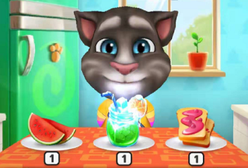 我的汤姆猫吃饭怎么玩,吃饱才有力气玩