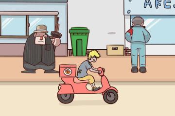 解决保安溜进去  外卖是不可能迟到的第23关